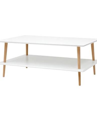Biely konferenčný stolík so zníženou spodnou doskou Ragaba KORO