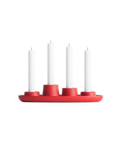 Červený svietnik EMKO Aye Aye Four Candles