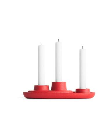 Červený svietnik EMKO Aye Aye Three Candles