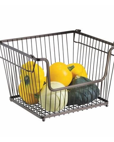Kovový vykrojený košík na zeleninu iDesign York, 32×27,5cm