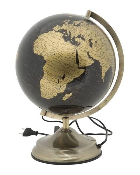 Mauro Ferretti Stolová lampa v tvare glóbusu Mauro Ferretti Globe Bronze, ø 25 cm
