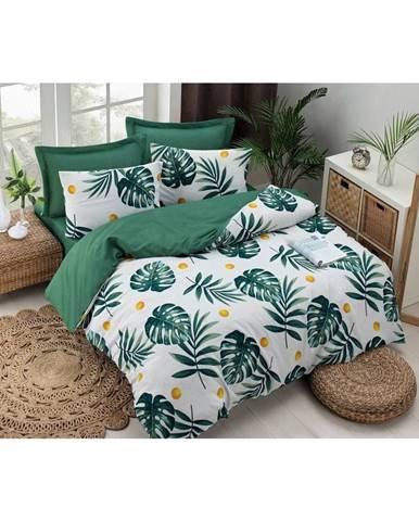 Bavlnené obliečky na jednolôžko Puresso Jungle, 140×200 cm