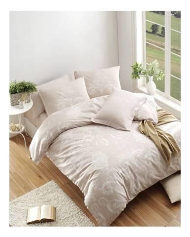 Obliečky s prímesou bavlny s plachtou na dvojlôžko Kralice Mink, 200 × 220 cm