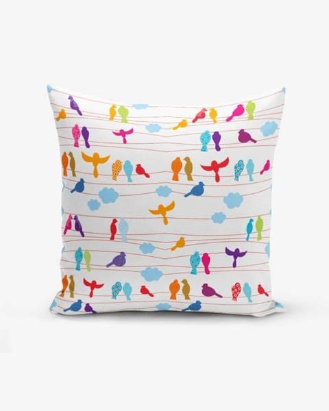 Minimalist Cushion Covers Obliečka na vankúš s prímesou bavlny Minimalist Cushion Covers Colorful Bird, 45×45 cm