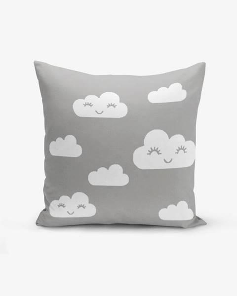 Minimalist Cushion Covers Obliečka na vankúš s prímesou bavlny Minimalist Cushion Covers Grey Background Cloud, 45×45 cm