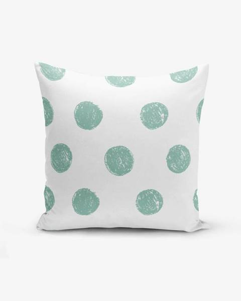 Minimalist Cushion Covers Obliečka na vankúš s prímesou bavlny Minimalist Cushion Covers Mind Green With Points, 45×45 cm
