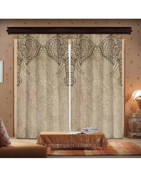 Bonami Sada 2 závesov Curtain Lasta, 140×260 cm