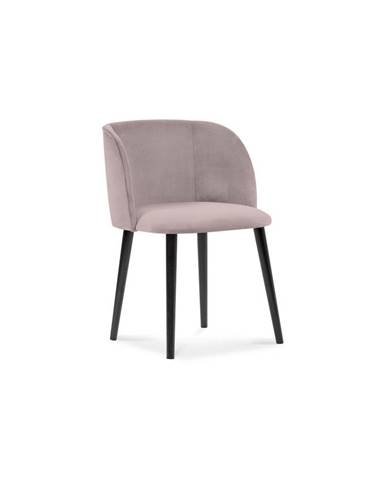 Púdrovoružová jedálenská stolička so zamatovým poťahom Windsor & Co Sofas Aurora