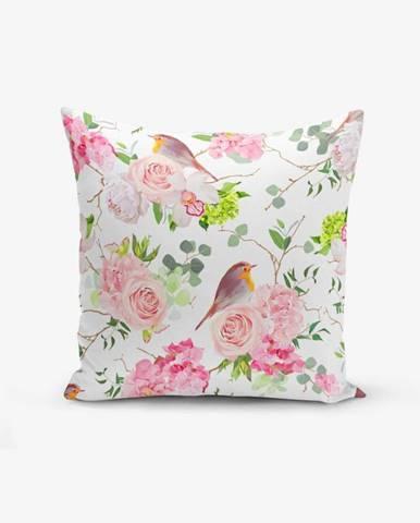 Obliečka na vankúš s prímesou bavlny Minimalist Cushion Covers Colorful Bird Duro, 45×45 cm