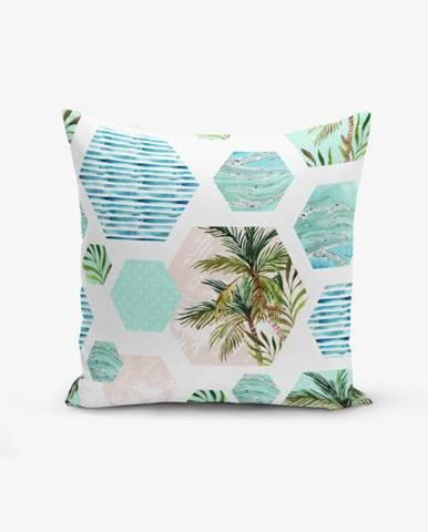 Obliečka na vankúš s prímesou bavlny Minimalist Cushion Covers Geometric Palm, 45×45 cm