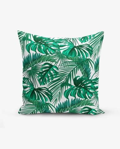 Obliečka na vankúš s prímesou bavlny Minimalist Cushion Covers Mint Green Kavanice, 45×45 cm