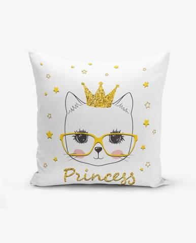 Obliečka na vankúš s prímesou bavlny Minimalist Cushion Covers Princess Cat Modern, 45×45 cm