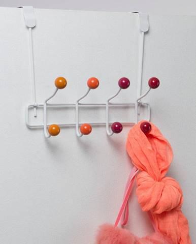 Oranžový vešiak na dvere s 8 háčikmi Compactor Colorful