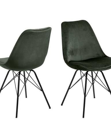 Tmavozelená jedálenská stolička Actona Eris