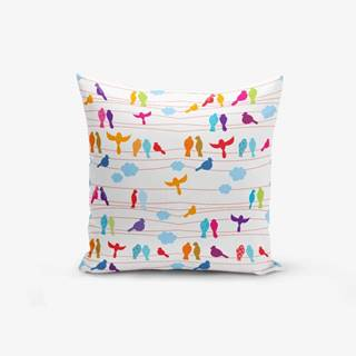 Obliečka na vankúš s prímesou bavlny Minimalist Cushion Covers Colorful Bird, 45×45 cm