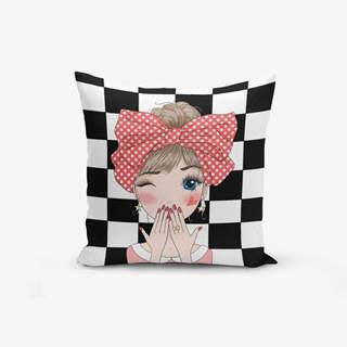 Obliečka na vankúš s prímesou bavlny Minimalist Cushion Covers Damali Fashion Girl Modern, 45×45 cm