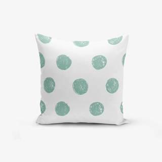 Obliečka na vankúš s prímesou bavlny Minimalist Cushion Covers Mind Green With Points, 45×45 cm