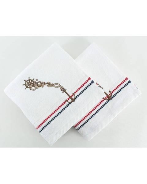 Hobby Sada 2 bielych uterákov Marina White, 50×90 cm