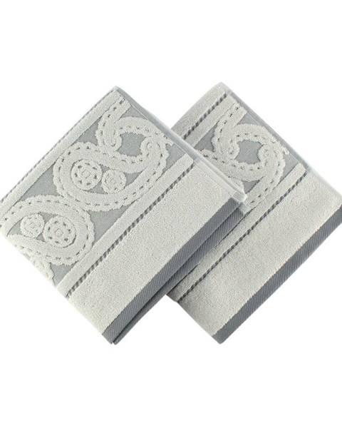 Hobby Sada 2 sivých uterákov Hurry, 50×90 cm