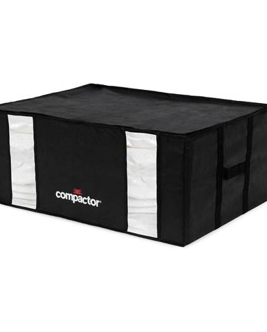Čierny úložný box s vákuovým obalom Compactor Black Edition, objem 210 l