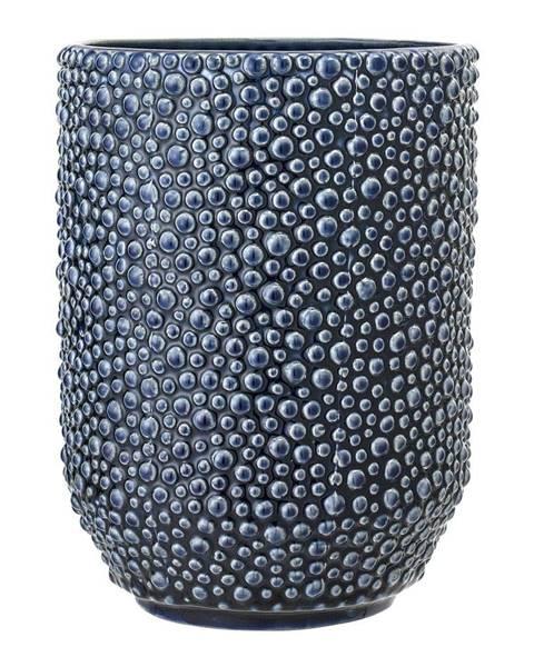 Bloomingville Modrá kameninová váza Bloomingville Vase