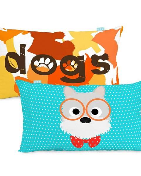 Mr. Fox Obojstranná bavlnená obliečka na vankúš Mr. Fox Dogs 50 × 30 cm