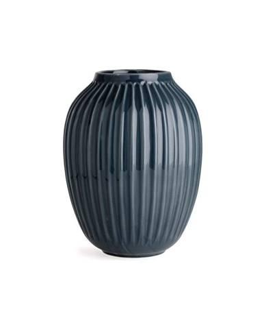 Antracitovosivá kameninová váza Kähler Design Hammershoi, výška 25 cm