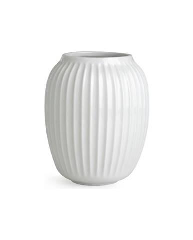 Biela kameninová váza Kähler Design Hammershoi, výška 20 cm