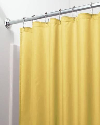 Žltý záves do sprchy iDesign Poly