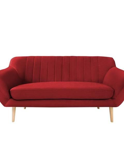 Mazzini Sofas Červená zamatová pohovka Mazzini Sofas Sardaigne, 158 cm