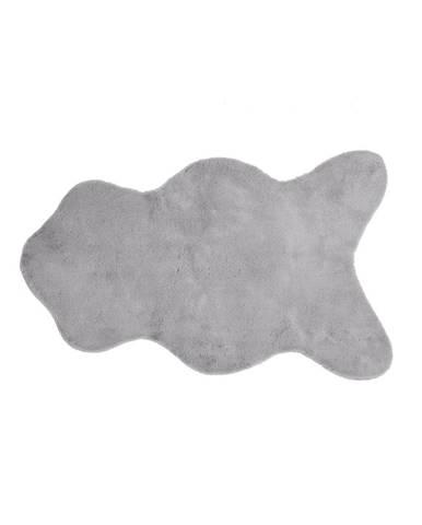 Sivá umelá kožušina Tiseco Home Studio Rabbit, 60 × 90 cm