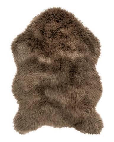 Tmavohnedá umelá kožušina Tiseco Home Studio Sheepskin, 60 × 90 cm