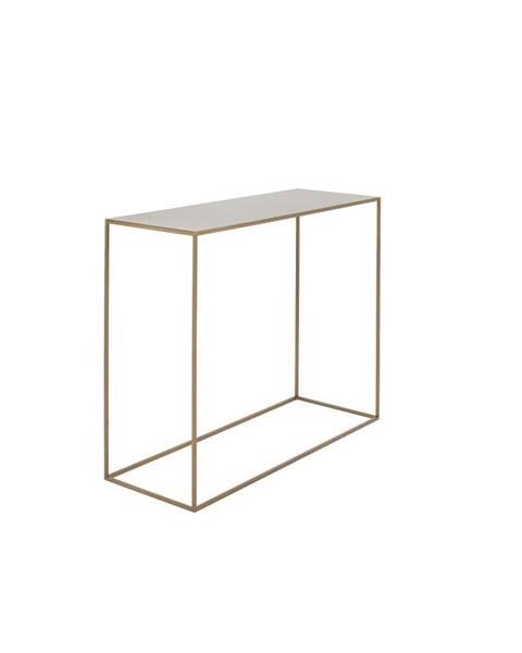Custom Form Konzolový kovový stôl v zlatej farbe Custom Form Tensio, 100 x 35 cm