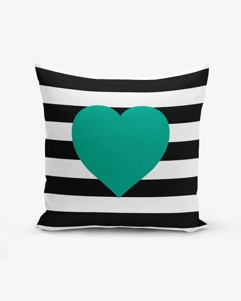 Minimalist Cushion Covers Obliečka na vaknúš s prímesou bavlny Minimalist Cushion Covers Striped Green, 45×45 cm