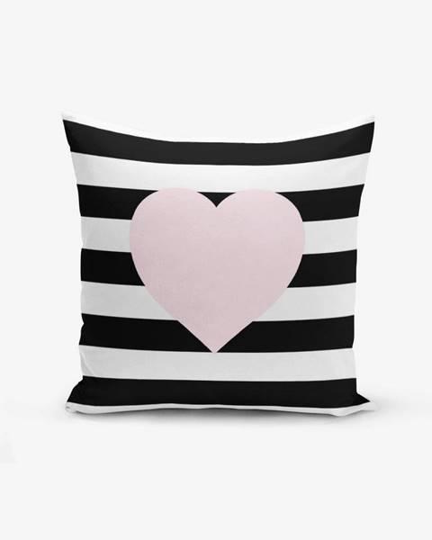 Minimalist Cushion Covers Obliečka na vaknúš s prímesou bavlny Minimalist Cushion Covers Striped Pink, 45×45 cm