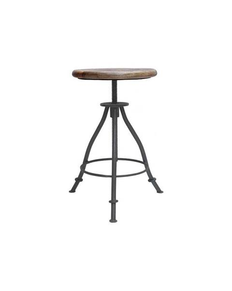 LABEL51 Sivá stolička so sedákom z mangového dreva LABEL51 Jaipur