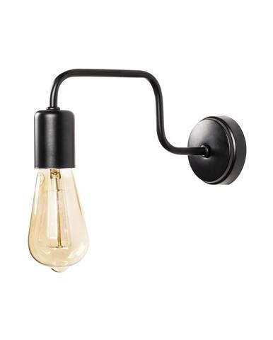 Čierne kovové nástenné svietidlo Opviq lights Isidora