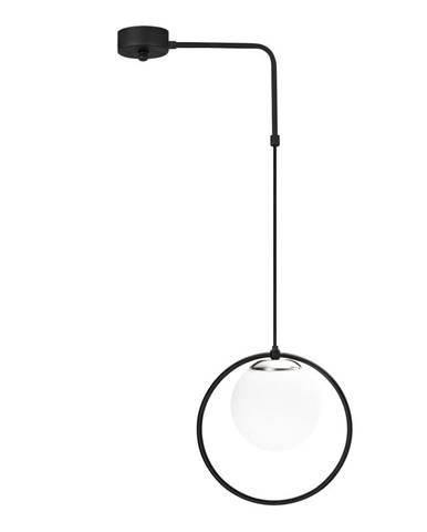 Čierne kovové závesné svietidlo Opviq lights Elpidas