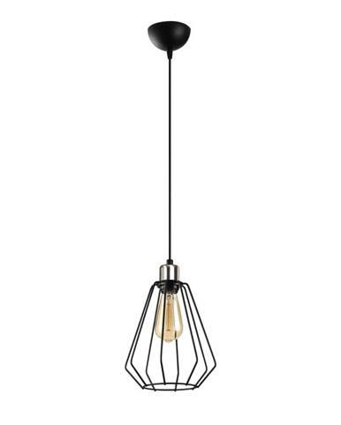 Čierne kovové závesné svietidlo Opviq lights Mando