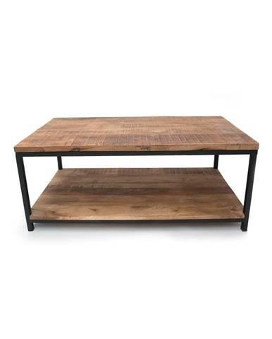 Čierny konferenčný stolík s doskou z mangového dreva LABEL51 Vintage XXL