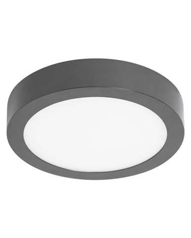 Sivé kruhové stropné svietidlo SULION, ø22,5 cm