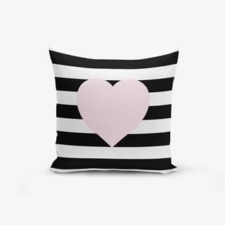 Obliečka na vaknúš s prímesou bavlny Minimalist Cushion Covers Striped Pink, 45×45 cm