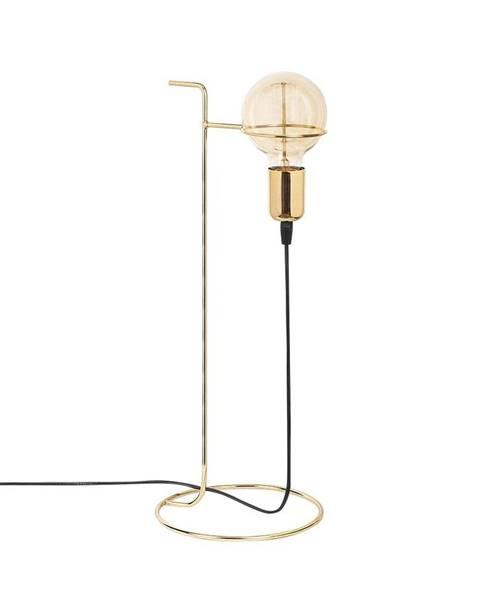 Opviq lights Kovová stolová lampa v zlatej farbe Opviq lights Ersi