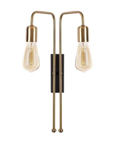 Kovové nástenné svietidlo v zlatej farbe Opviq lights Pahoma