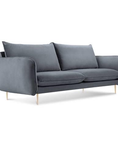 Sivá zamatová pohovka Cosmopolitan Design Florence,160 cm