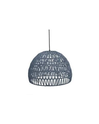 Sivé stropné svietidlo LABEL51 Rope, ⌀38 cm