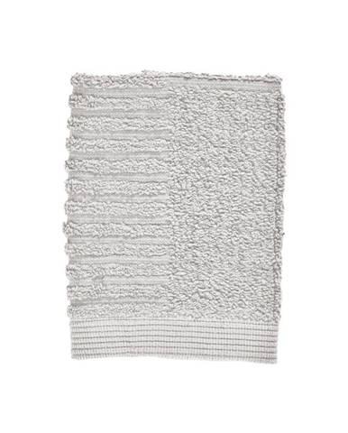 Svetlosivý uterák zo 100 % bavlny na tvár Zone Classic Soft Grey, 30×30 cm