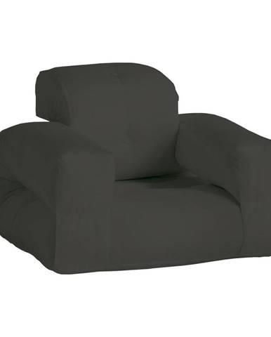 Tmavosivé rozkladacie kresielko vhodné do exteriéru Karup Design Design OUT™ Hippo Dark Grey