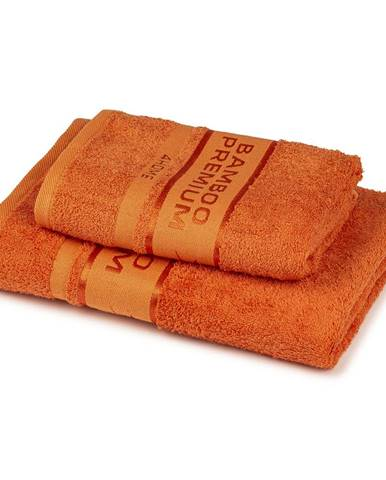 4Home Sada Bamboo Premium osuška a uterák oranžová, 70 x 140 cm, 50 x 100 cm
