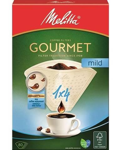 Filter Melitta 1 x 4, 80 ks Gourmet Mild